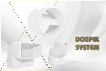 Kanały wentylacyjne, kanały płaskie, kanał okrągłe, zakończenia wentylacyjne, DOSPEL SYSTEM